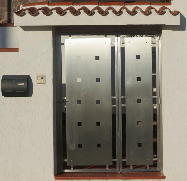 Portone a cancelletto per esterni in acciaio INOX - foto 1