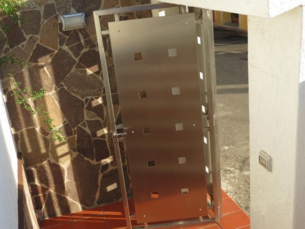 Portone a cancelletto per esterni in acciaio INOX - foto 2