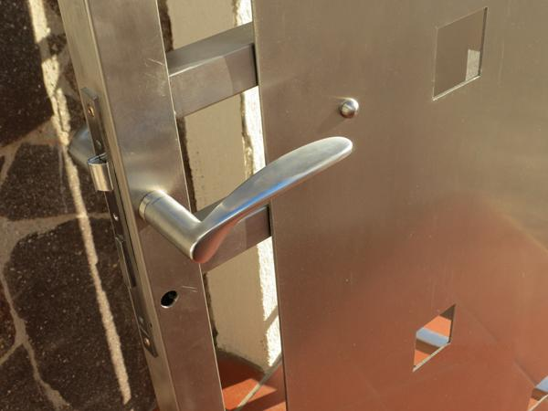 Portone a cancelletto per esterni in acciaio INOX - foto 3
