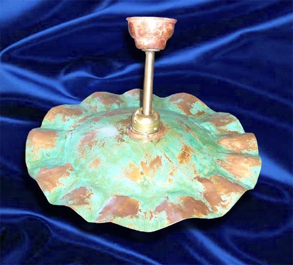 Portalampada stile antico in rame ossidato - foto 1