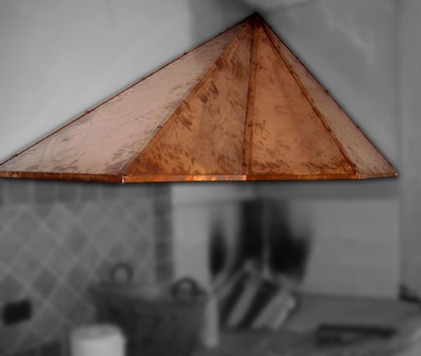 Cappe in rame per caminetto - sagomatura radiale - foto 1