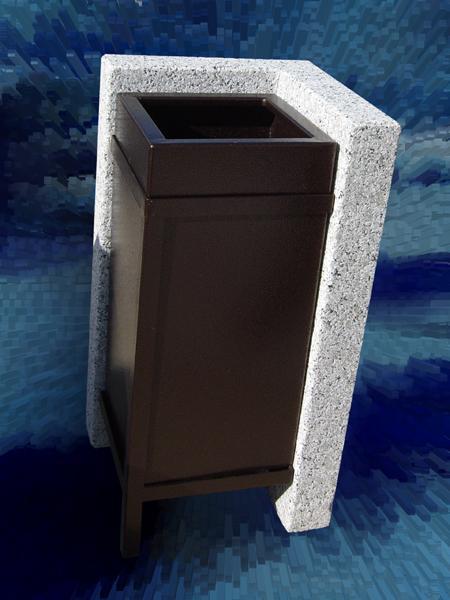 Cestello per rifiuti urbani in acciaio INOX galvanizzato - foto 1