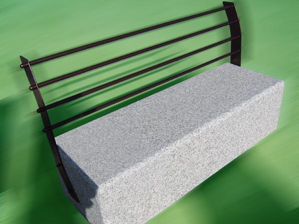Panchina in acciaio INOX galvanizzato e granito - foto 1