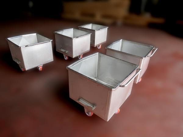 Vagonetti in acciaio INOX per trasporto carni  - foto 1