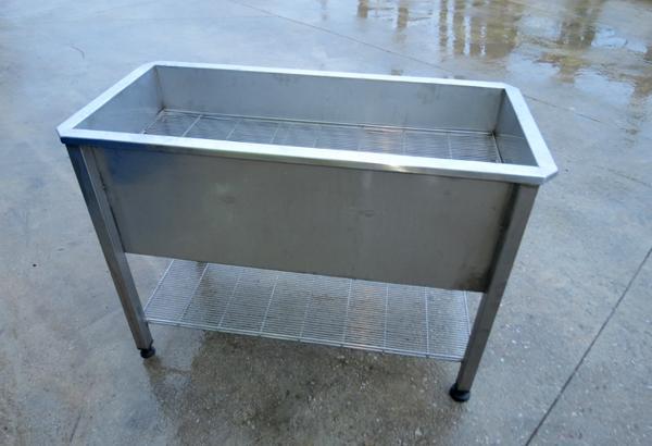 Lavello professionale con griglia in acciaio INOX - foto 1