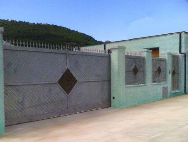 Cancello Esterno Moderno : Bruno acciai cancello e portoncino da esterni in ferro zincato e