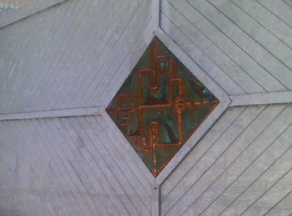 Cancello e portoncino da esterni in ferro zincato e rame decorato - foto 3