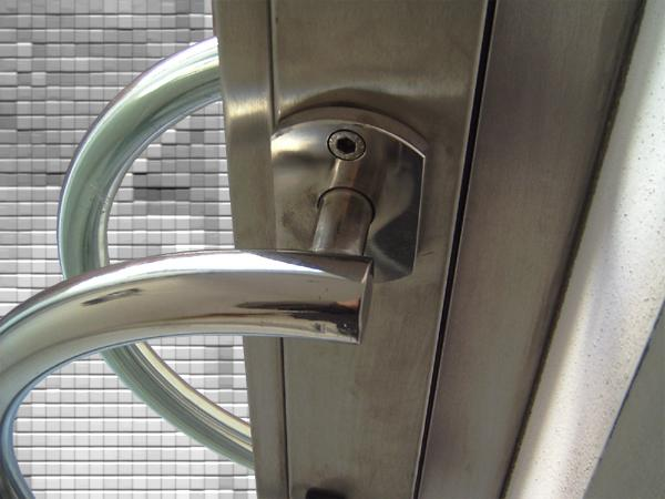 Favoloso Bruno Acciai - Porta in acciaio INOX e vetro antisfondamento RL82