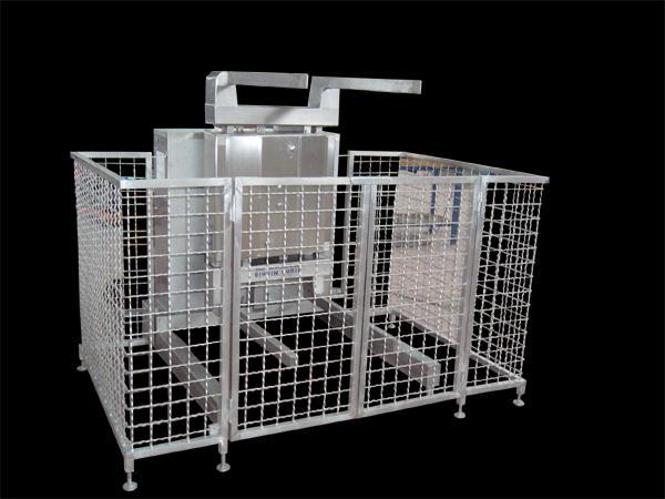Ribaltatore in acciaio INOX per griglie impilabili - foto 1