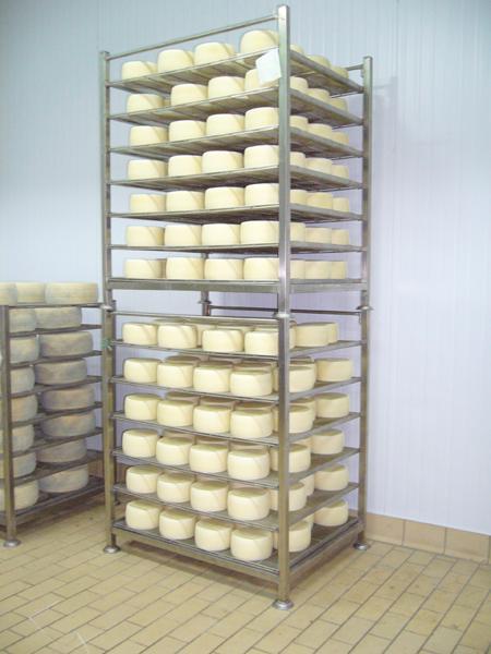 Palchetti in acciaio INOX stagionatura formaggio pecorino - foto 1