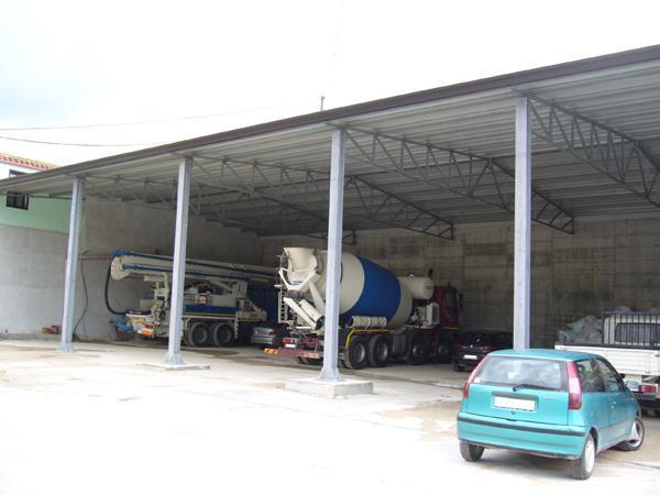 Bruno Acciai - Coperture di parcheggi automezzi - struttura in ...