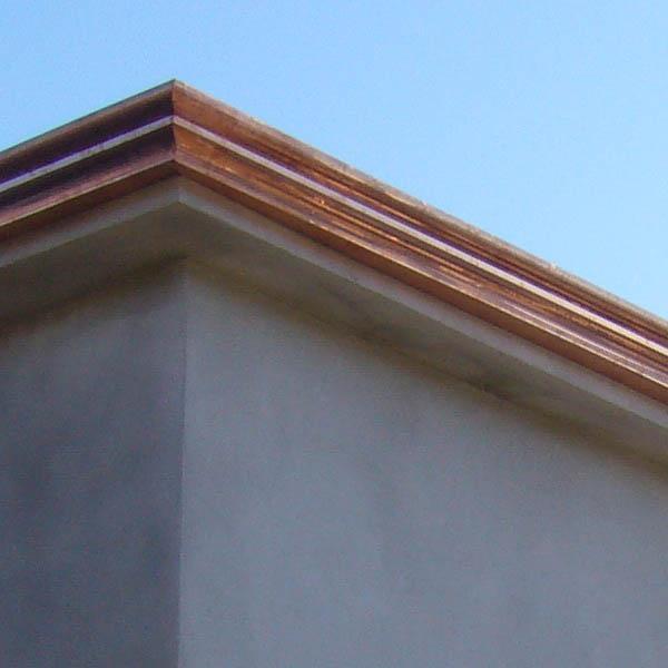 Lattoneria - grondaia in rame modello doppio tondo - foto 2