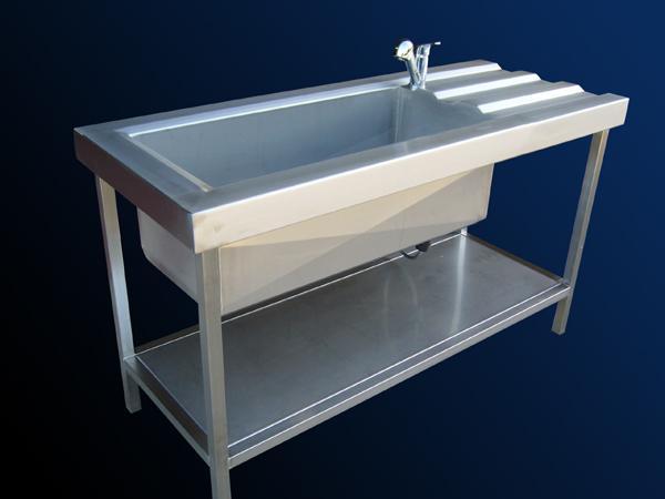 Lavello professionale in acciaio INOX con vasca da 80 cm  - foto 1