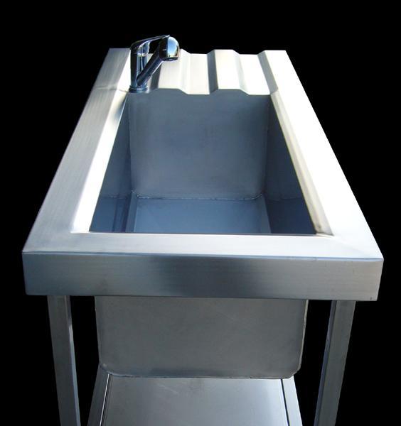 Lavello professionale in acciaio INOX con vasca da 80 cm  - foto 2