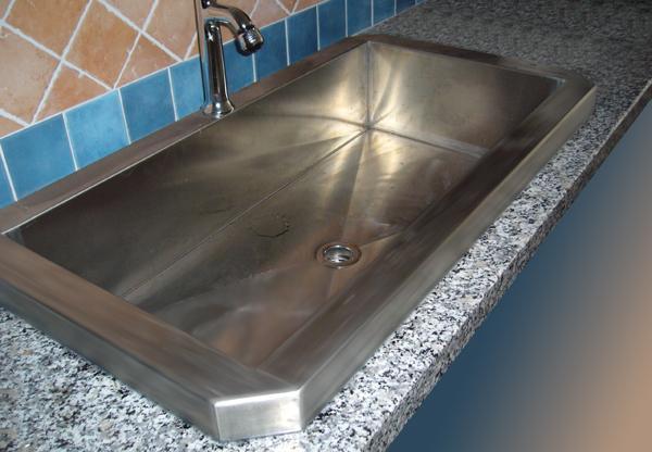 Bruno Acciai - Lavello in acciaio INOX per cucina rustica