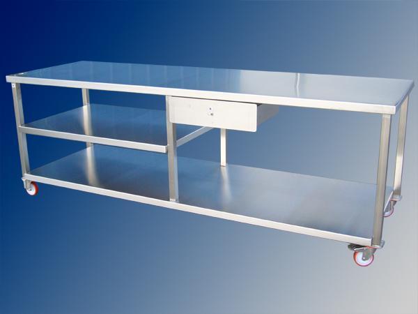 Tavolo a carrello per lavorazioni alimentari in acciaio INOX - foto 1