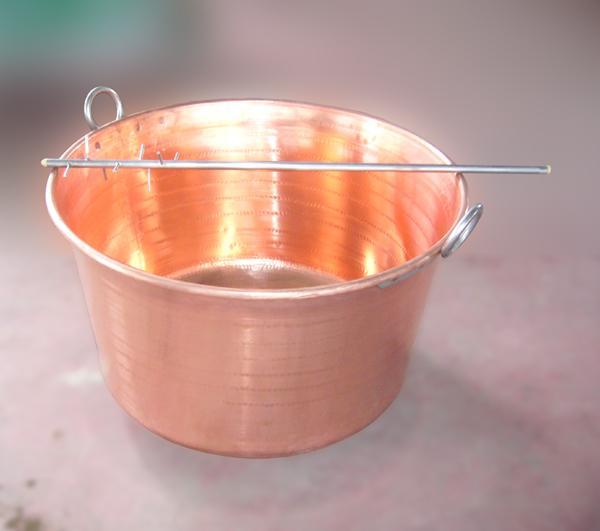Pentoloni in rame puro e frusta rompicagliata in acciaio INOX - Lapiolu - foto 1