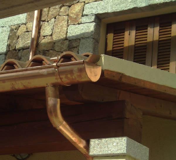 Lattoneria - Grondaie in rame modello classico - foto 1