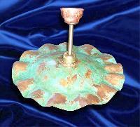 foto del prodotto Portalampada stile antico in rame ossidato