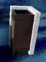 foto del prodotto Cestello per rifiuti urbani in acciaio INOX galvanizzato