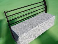 foto del prodotto Panchina in acciaio INOX galvanizzato e granito