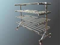 foto del prodotto Carrello in acciaio INOX per la stagionatura delle perette - panedda